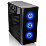 Корпус Thermaltake V200 Tempered Glass RGB Edition черный